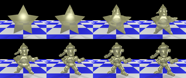 Metamorphosis of Arbitrary Triangular Meshes