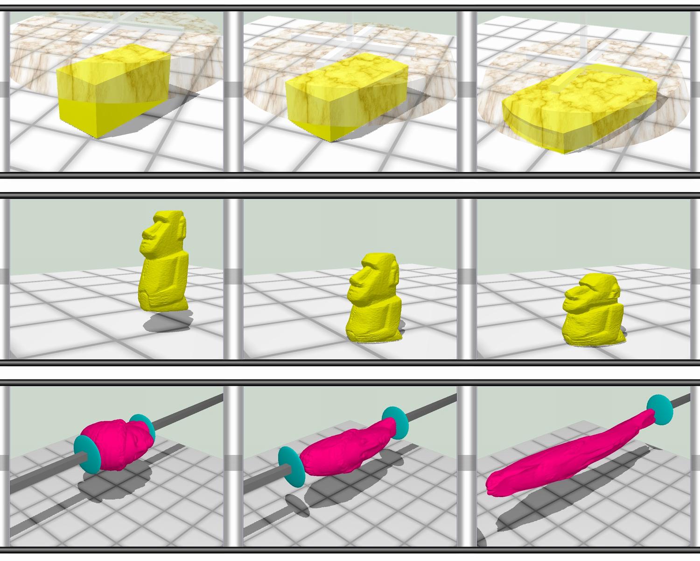 シェイプマッチング法による体積保存を考慮した形状変形手法