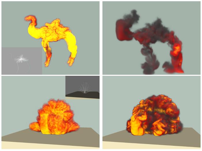 物理モデルを考慮した爆発のモデリング