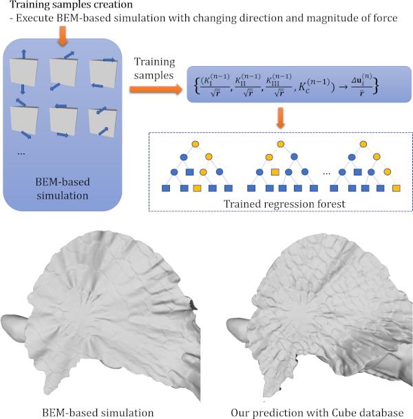 データ駆動法による脆性破壊曲面形状シミュレーション